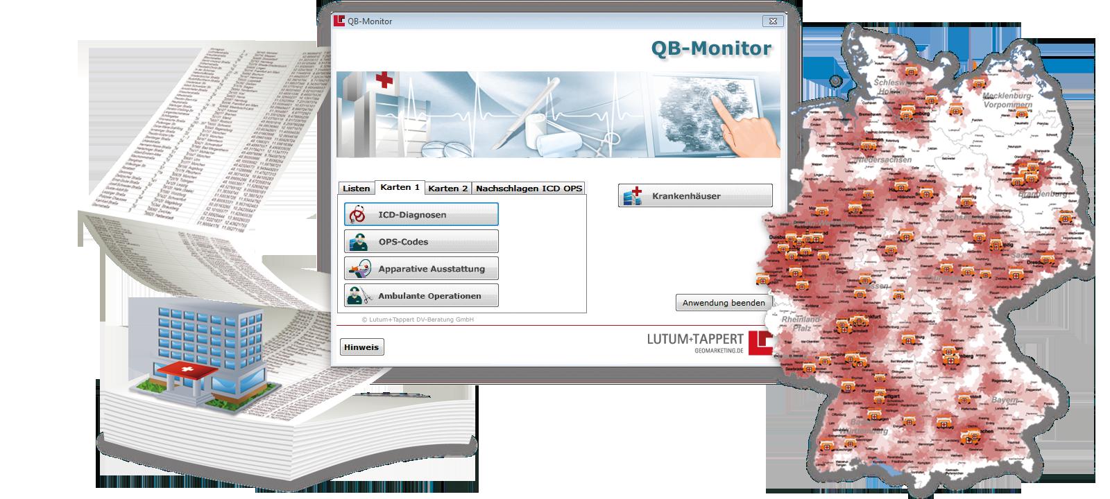 Darstellung QB-Monitor